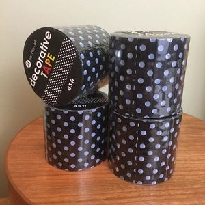 Other - Polka Dot Packing Tape Lot Of 4 Rolls